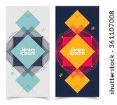 flat futuristic banners.