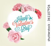 valentine's day typographical... | Shutterstock .eps vector #361107926