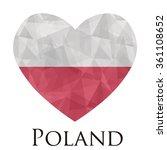Poland Flag Shape Heart In...