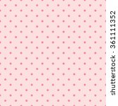 pink polka dot background  old... | Shutterstock .eps vector #361111352