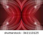 red abstract template for card... | Shutterstock . vector #361113125