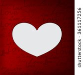 valentine's day card   Shutterstock .eps vector #361117256