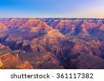 amazing sunrise image of the... | Shutterstock . vector #361117382