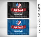 memorial day sale banner... | Shutterstock .eps vector #361118972