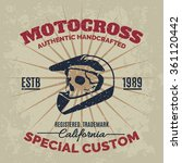 vintage motocross helmet with... | Shutterstock .eps vector #361120442