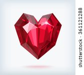realistic red faceted ruby... | Shutterstock .eps vector #361121288