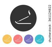 Incense Sticks Icon. Vector...