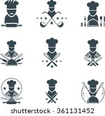 set of flat cooking icons | Shutterstock .eps vector #361131452