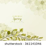 floral background  spring theme ... | Shutterstock . vector #361141046