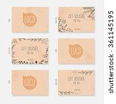vector gift voucher  card... | Shutterstock .eps vector #361145195