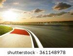 motion blurred racetrack warm... | Shutterstock . vector #361148978