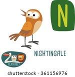 cute zoo alphabet in vector. n... | Shutterstock .eps vector #361156976