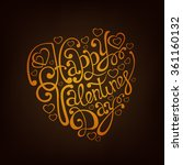 happy valentines day lettering... | Shutterstock .eps vector #361160132