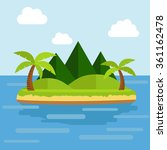 vector nature landscape... | Shutterstock .eps vector #361162478