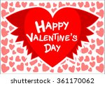 happy valentines day card... | Shutterstock .eps vector #361170062