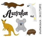 australian animals   Shutterstock . vector #361171892