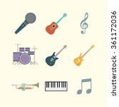 musical equipment icon set.... | Shutterstock .eps vector #361172036