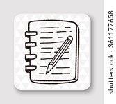 doodle notebook | Shutterstock .eps vector #361177658