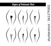 scheme of hair removal bikini... | Shutterstock .eps vector #361179302