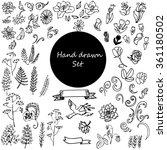 vector set of hand drawn of...   Shutterstock .eps vector #361180502