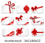 set of beautiful cards with red ... | Shutterstock .eps vector #361180622