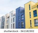 external facade of a row of... | Shutterstock . vector #361182302