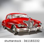 retro car. | Shutterstock .eps vector #361183232