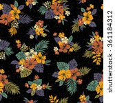 hibiscus flower pattern | Shutterstock .eps vector #361184312