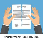 contract termination concept.... | Shutterstock .eps vector #361187606