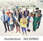 celebrating diverse people... | Shutterstock . vector #361189802