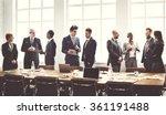 business group meeting... | Shutterstock . vector #361191488