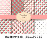 set cute retro abstract... | Shutterstock .eps vector #361193762