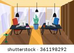 office interior room. vector... | Shutterstock .eps vector #361198292