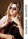 beautiful girl   Shutterstock . vector #36120535