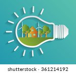 green eco energy concept.... | Shutterstock .eps vector #361214192