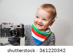 little beautiful baby boy with... | Shutterstock . vector #361220342