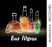 elite alcohol. vector bar menu... | Shutterstock .eps vector #361221482