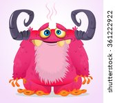 happy cartoon monster. vector... | Shutterstock .eps vector #361222922