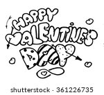 sketch of text saint valentine... | Shutterstock .eps vector #361226735
