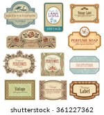 ornate vintage labels in style... | Shutterstock .eps vector #361227362