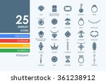 set of jewelry icons | Shutterstock .eps vector #361238912