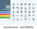 set of social network icons | Shutterstock .eps vector #361238936