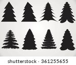 christmas tree icons | Shutterstock .eps vector #361255655