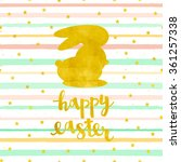 Vector Card With A Happy Easte...