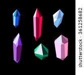 colorful shiny crystal set on... | Shutterstock .eps vector #361258682