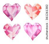 set of hand painted watercolor... | Shutterstock . vector #361261382