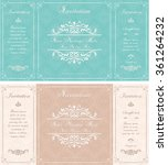 set of wedding invitation cards ... | Shutterstock .eps vector #361264232