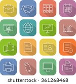 flat thin line icons for... | Shutterstock .eps vector #361268468