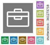 toolbox flat icon set on color...