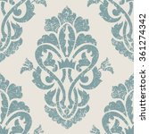 vector damask seamless pattern... | Shutterstock .eps vector #361274342